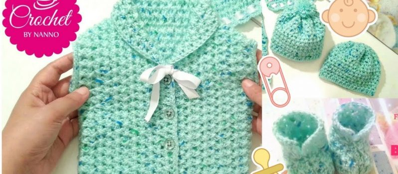 7cbf7b324 Quick And Easy Crochet Baby Gift Set  Video Tutorial  - Knit And ...