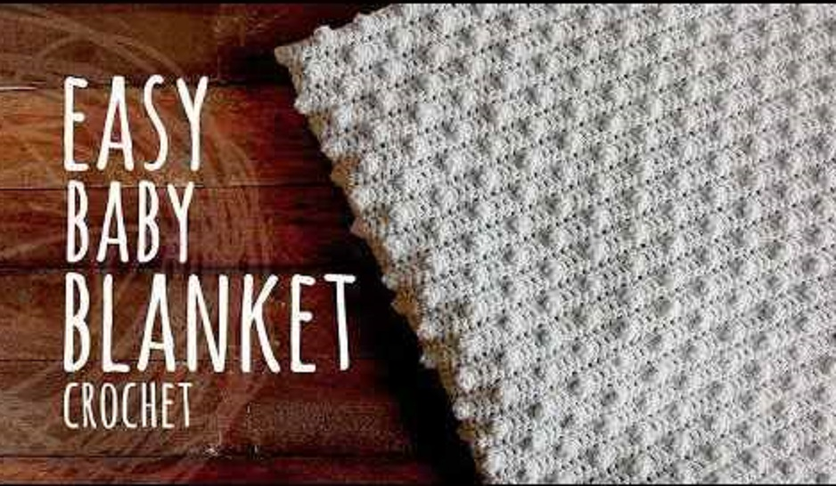Super Easy Baby Blanket Made With Pop Corn Stitches And Double Crochet [Video Tutorial]