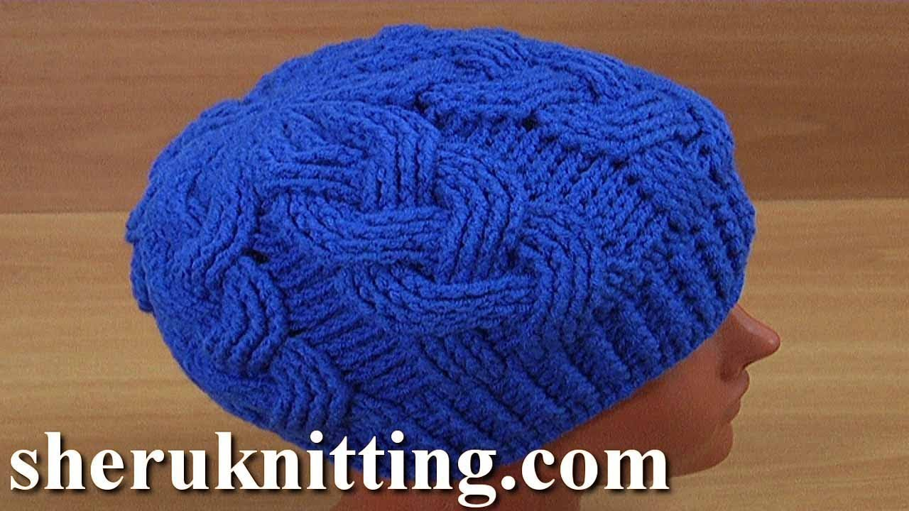 Video Tutorial Amazingly Beautiful 3d Cable Stitch Hat