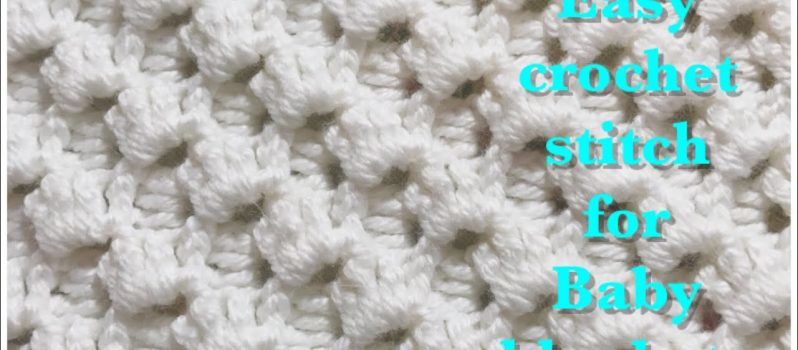 Video Tutorial Beautiful Crystal Waves Crochet Stitch For Fast And