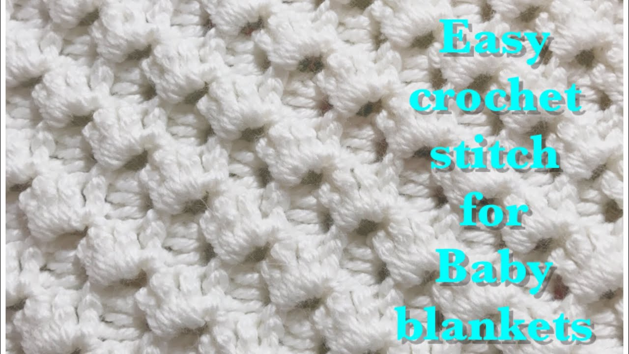 [Video Tutorial] Beautiful Crystal Waves Crochet Stitch For Fast And Easy Baby Blankets