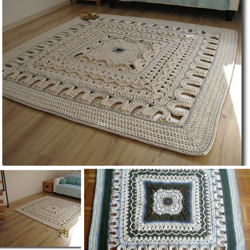 Giant Area Rugs Free Crochet Patterns Page 2 Of 2 Knit