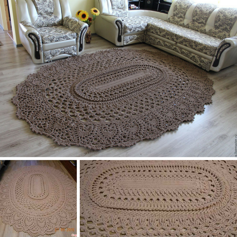 Giant Area Rugs Free Crochet Patterns - Knit And Crochet Daily