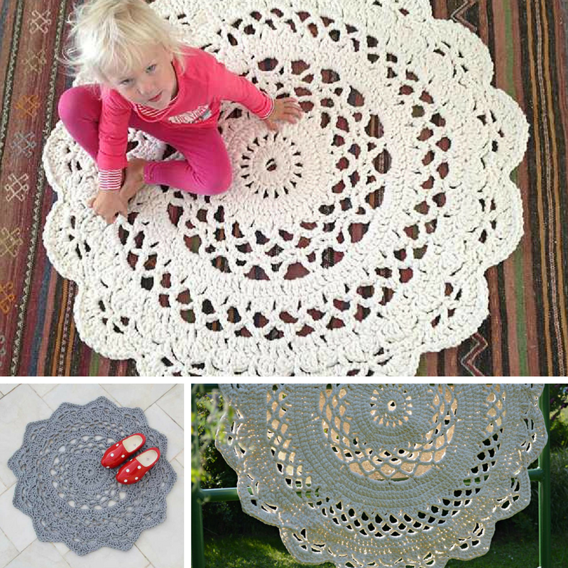 Giant Area Rugs Free Crochet Patterns Knit And Crochet Daily
