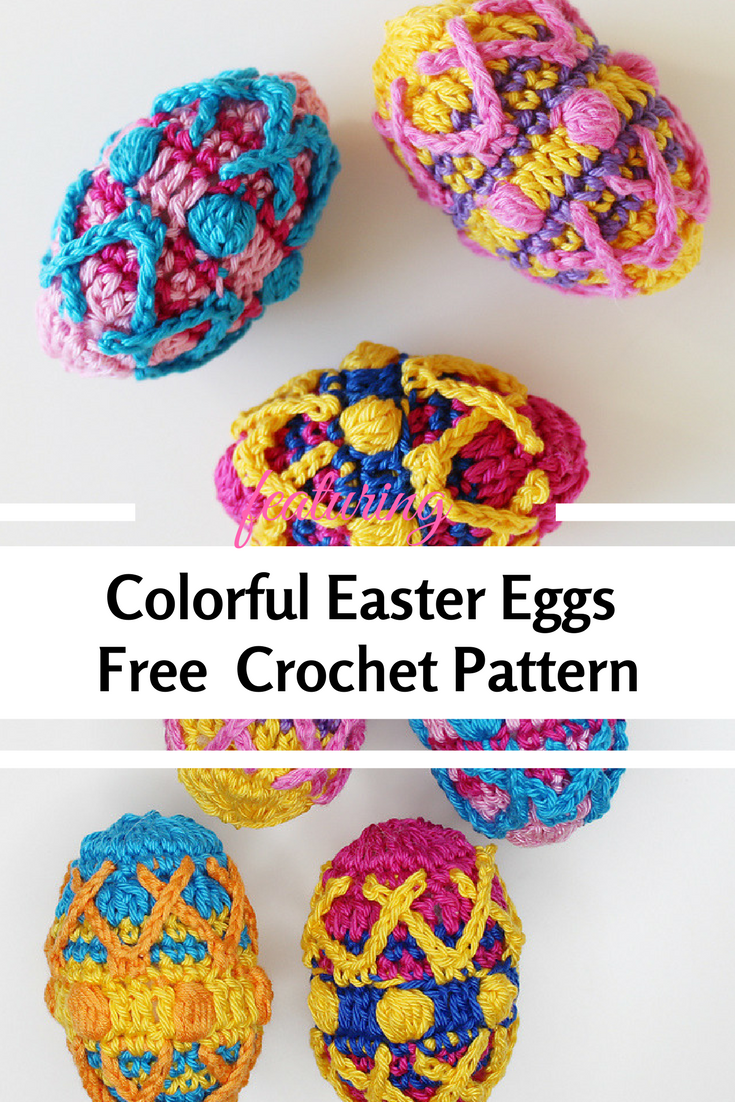 Colorful Crochet Easter Eggs Free Pattern