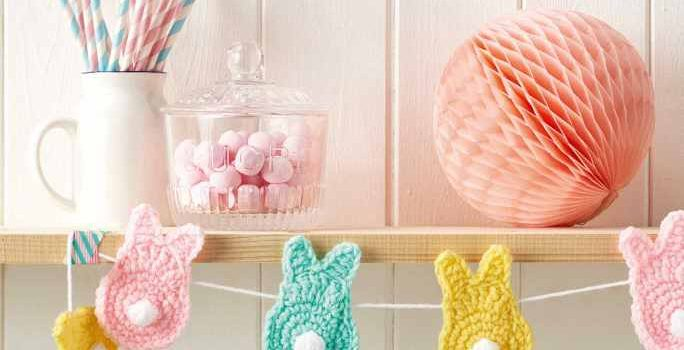 Cutest Easter Crochet Bunny Bunting Free Pattern Knit And Crochet