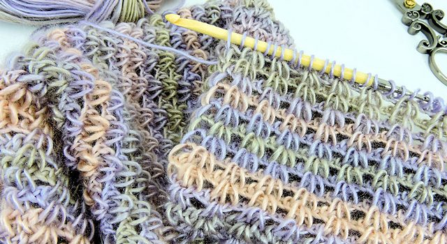 Fabulous Easy Tunisian Crochet Scarf Knit And Crochet Daily