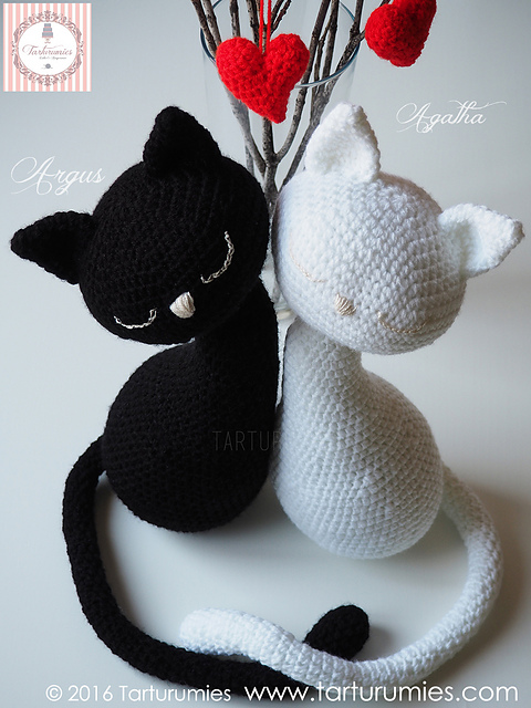 agatha amp argus kitties crochet patterns are gorgeous
