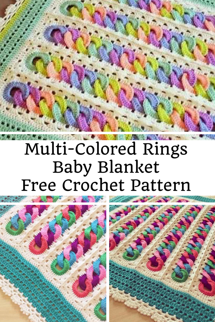 Fabulous Multi Colored Rings Baby Blanket Free Crochet Pattern