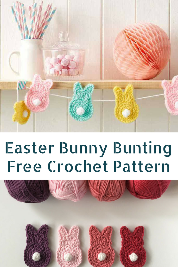 Cutest Easter Crochet Bunny Bunting Free Pattern