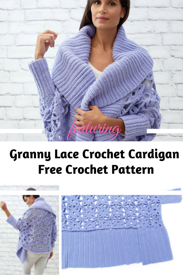 Gorgeous Lacy Crochet Cardigan Pattern