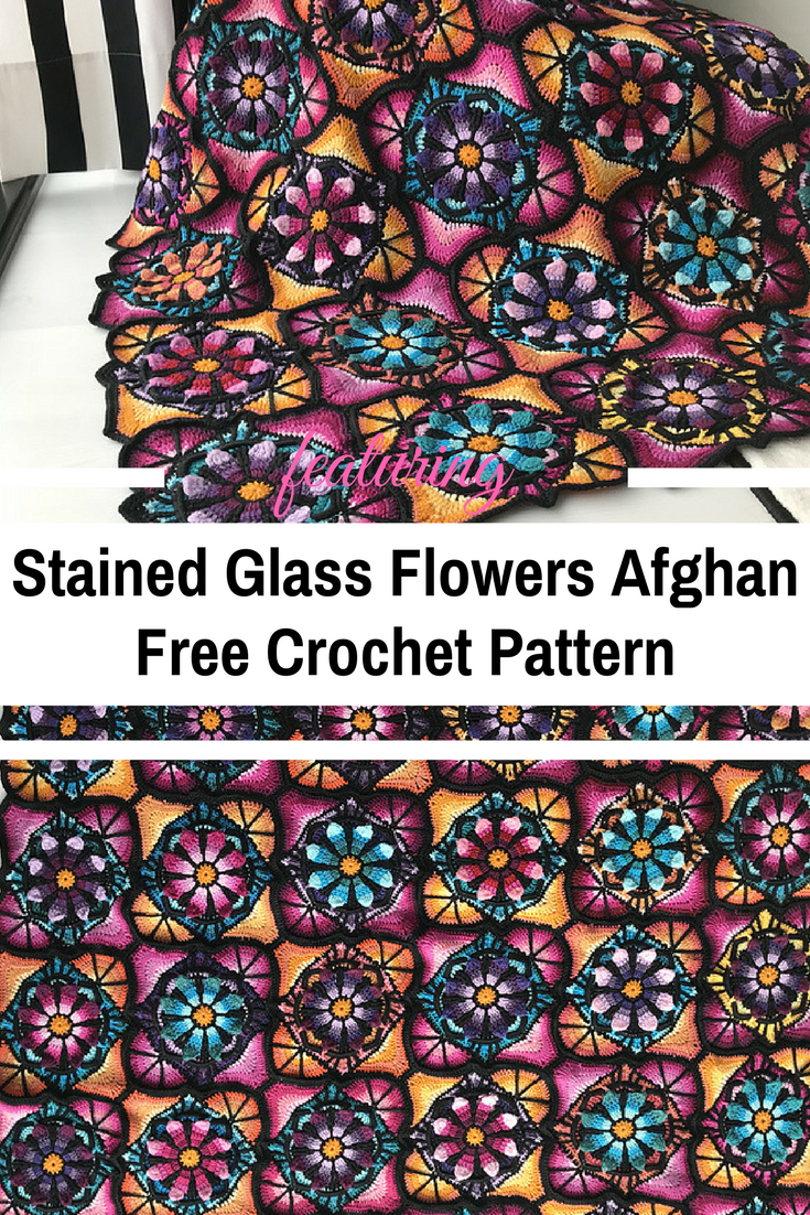 This Stained Glass Flowers Blanket Is Perfect For Curling Up With A