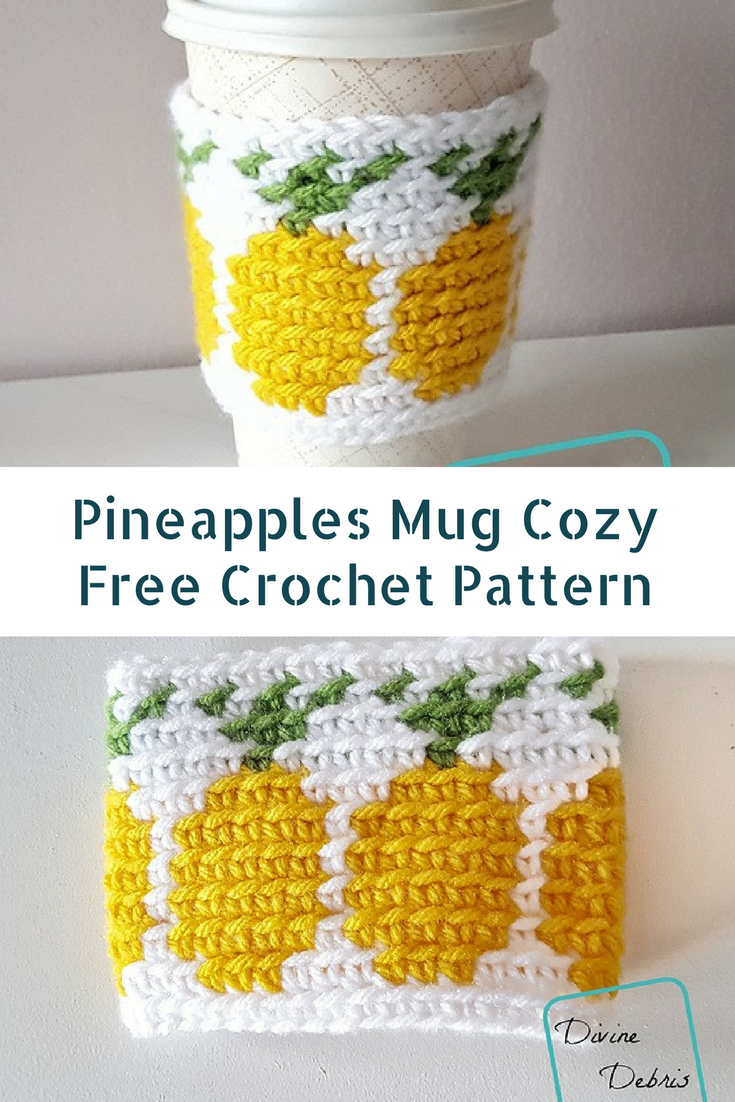 Coffee Or Tea Cup Cozy Crochet Pattern With Pineapple Design [Free Pattern]