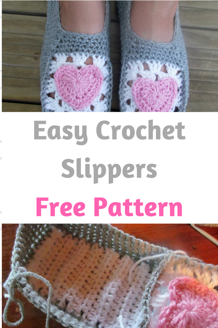 Easy Crochet Slippers For Adults-Free Pattern