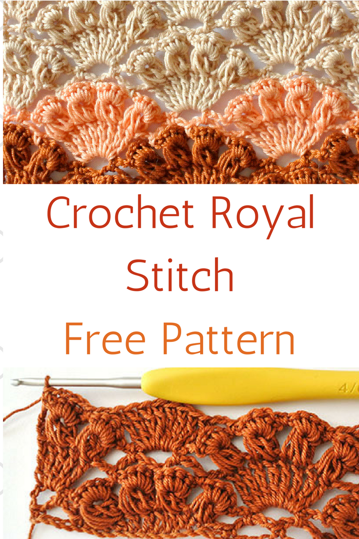 Learn A New Crochet Stitch Crochet Royal Stitch Knit