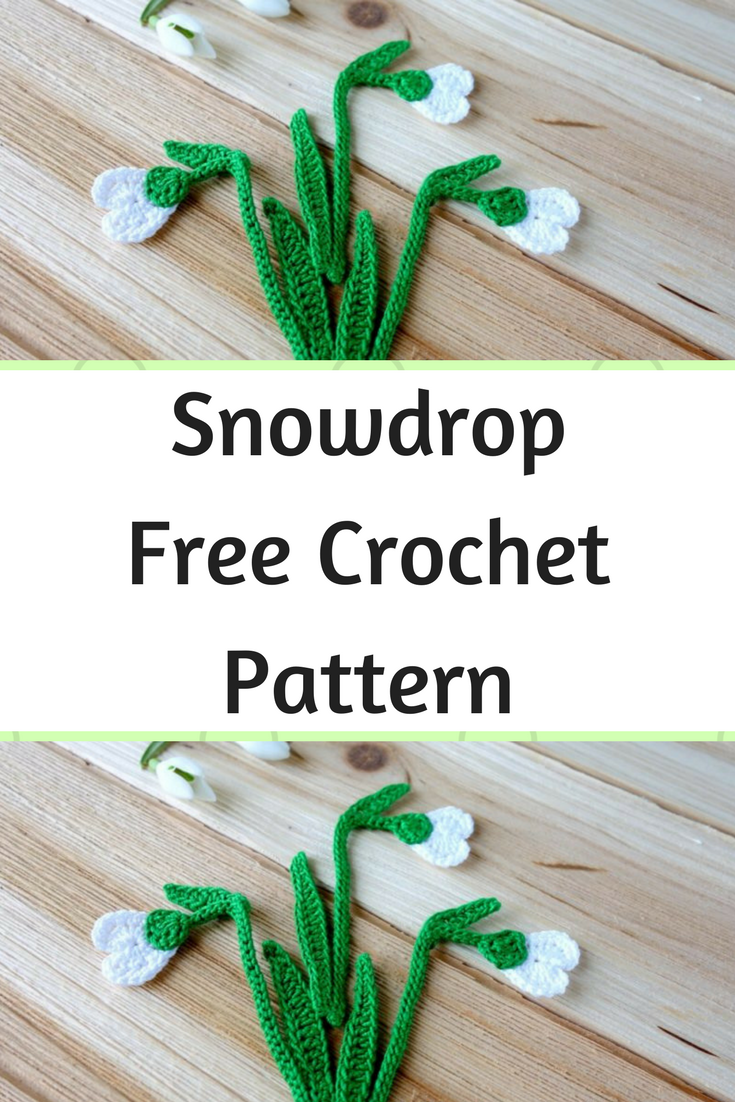 Incredibly Beautiful Snowdrop Free Crochet Pattern