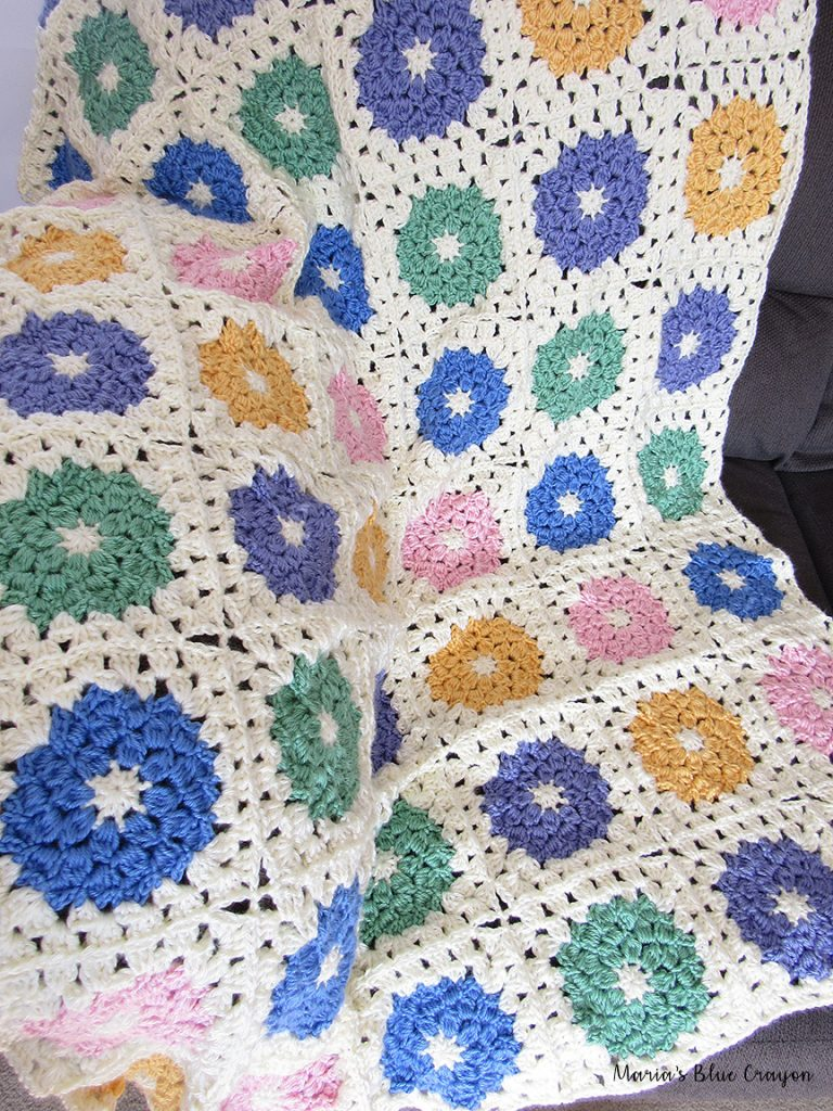 [Free Pattern] Easy Spring Crochet Afghan Pattern With Many Options On The Size