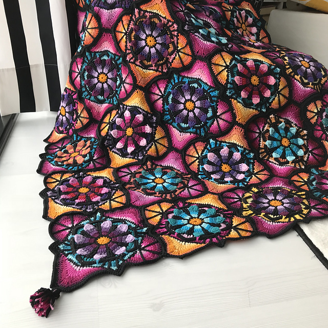 This Stained Glass Flowers Blanket Is Perfect For Curling