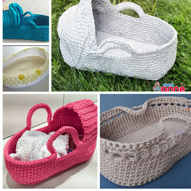 Gorgeous Crochet Moses Basket For Baby Free Patterns Knit And