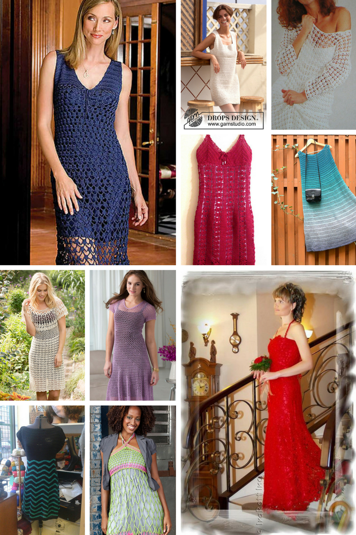 10 Beautiful Crochet Dresses For Women Free Patterns