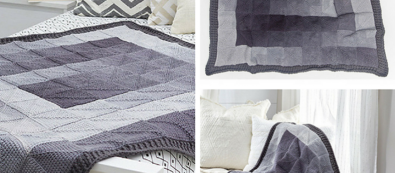 Awesome Modern Squares Throw Free Crochet Pattern Knit And Crochet