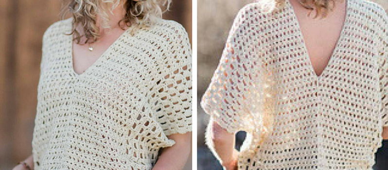 Easy Summer Poncho Style Top Crochet Pattern Knit And Crochet Daily