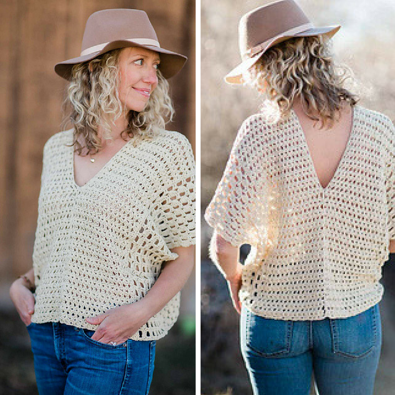 Easy Summer Poncho-Style Top Crochet Pattern