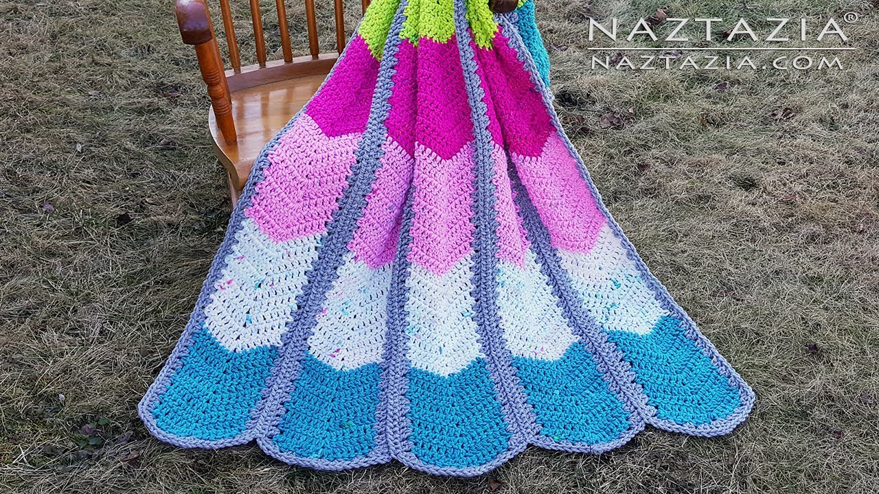 Amazing And Easy Crochet Waterfall Ripple Blanket Free Pattern