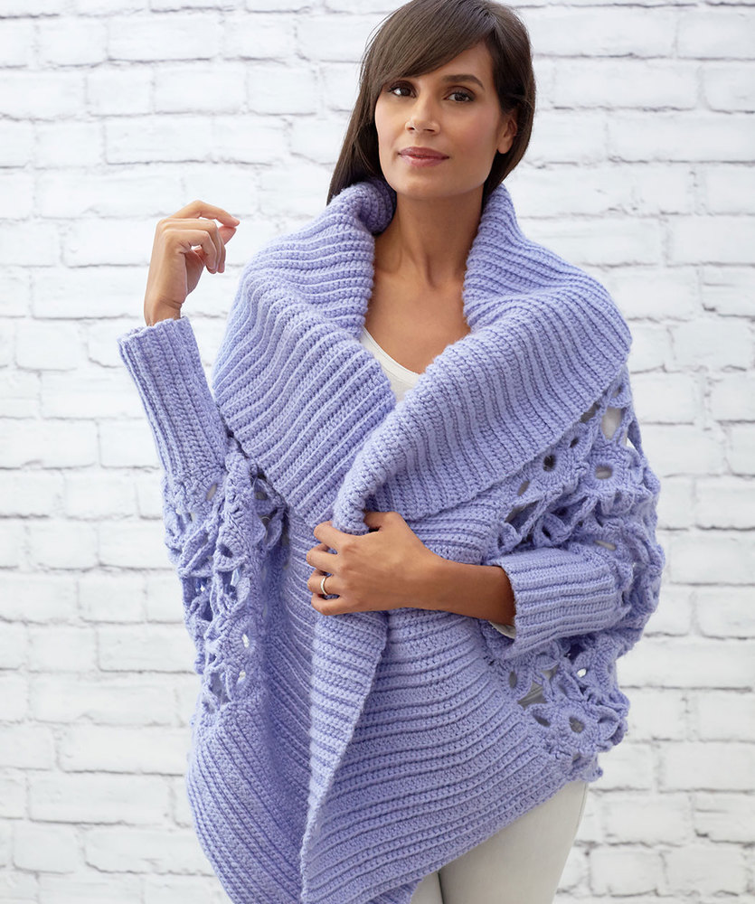 Gorgeous Lacy Crochet Cardigan Pattern Knit And Crochet