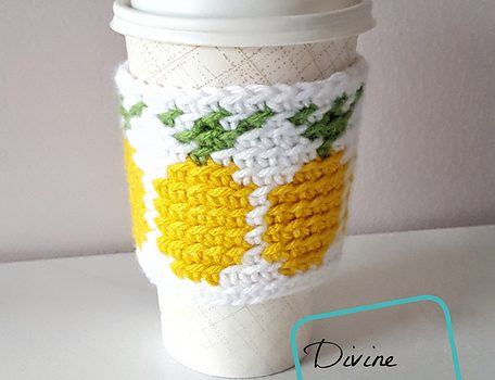 Coffee Or Tea Cup Cozy Crochet Pattern With Pineapple Design Free