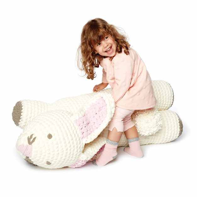 Crochet Bunny Floor Pillow Free Pattern Fun Crochet For