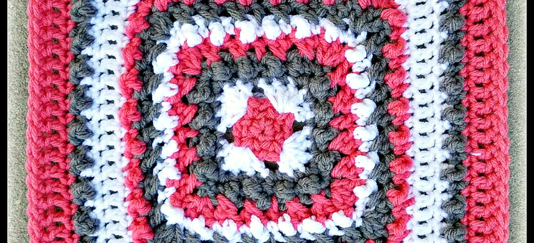 This Coral And Stone Afghan Block Is A Beauty Knit And Crochet Daily