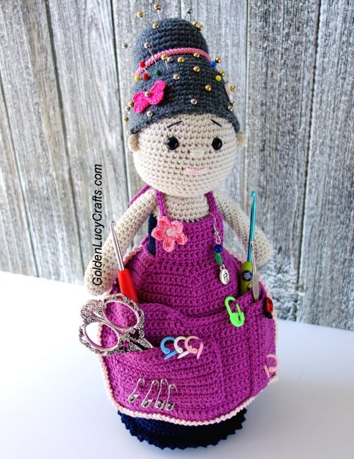 Crochet Crafter Granny Organizer Free Pattern Knit And
