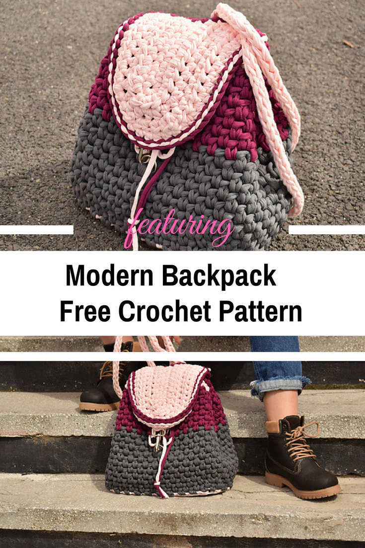 Modern Backpack Free Crochet Pattern For All Seasons - Knit And ...