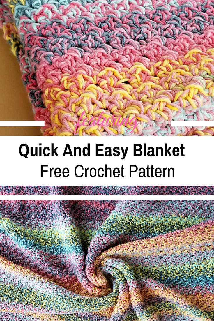 Quick And Easy Crochet Blanket Pattern For Beginners Knit And Crochet Daily