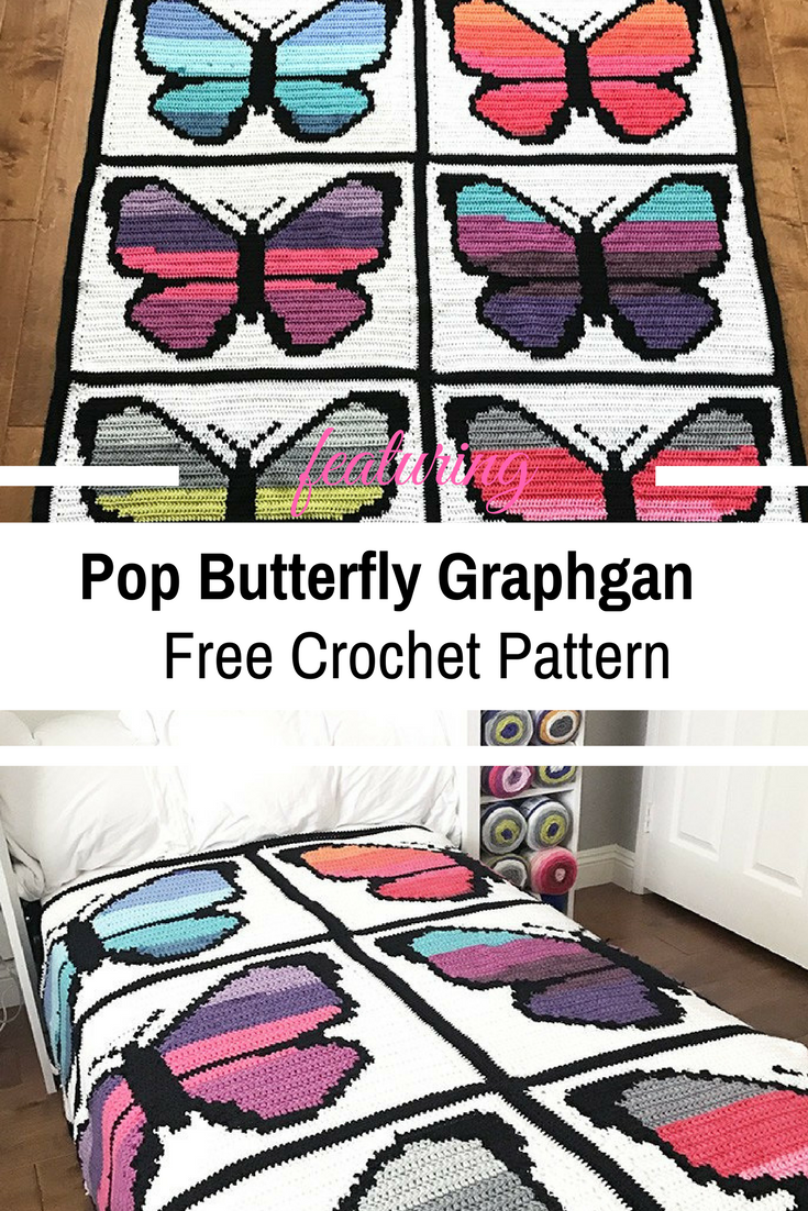 Clever Cake Butterfly Crochet Graphgan – Free Pattern