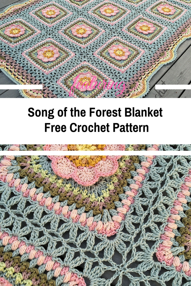 Floral Throw Blanket Free Crochet Pattern