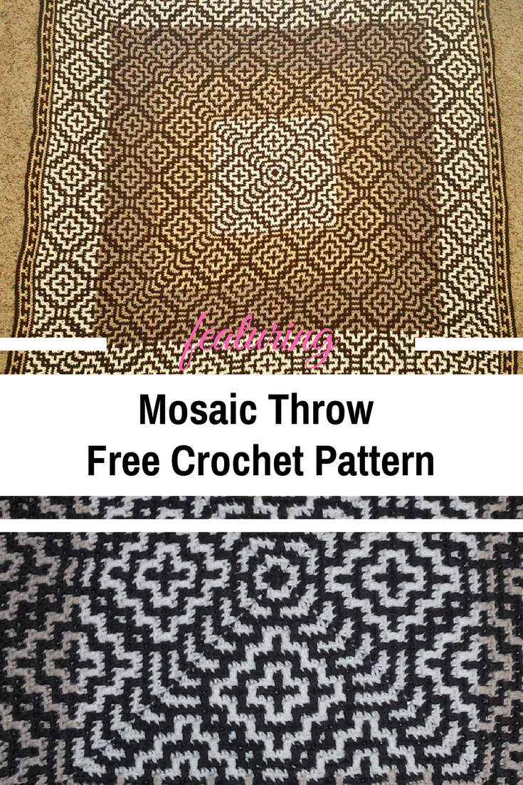 Easy Mosaic Throw Pattern With A Fabulous Design [Free Pattern]