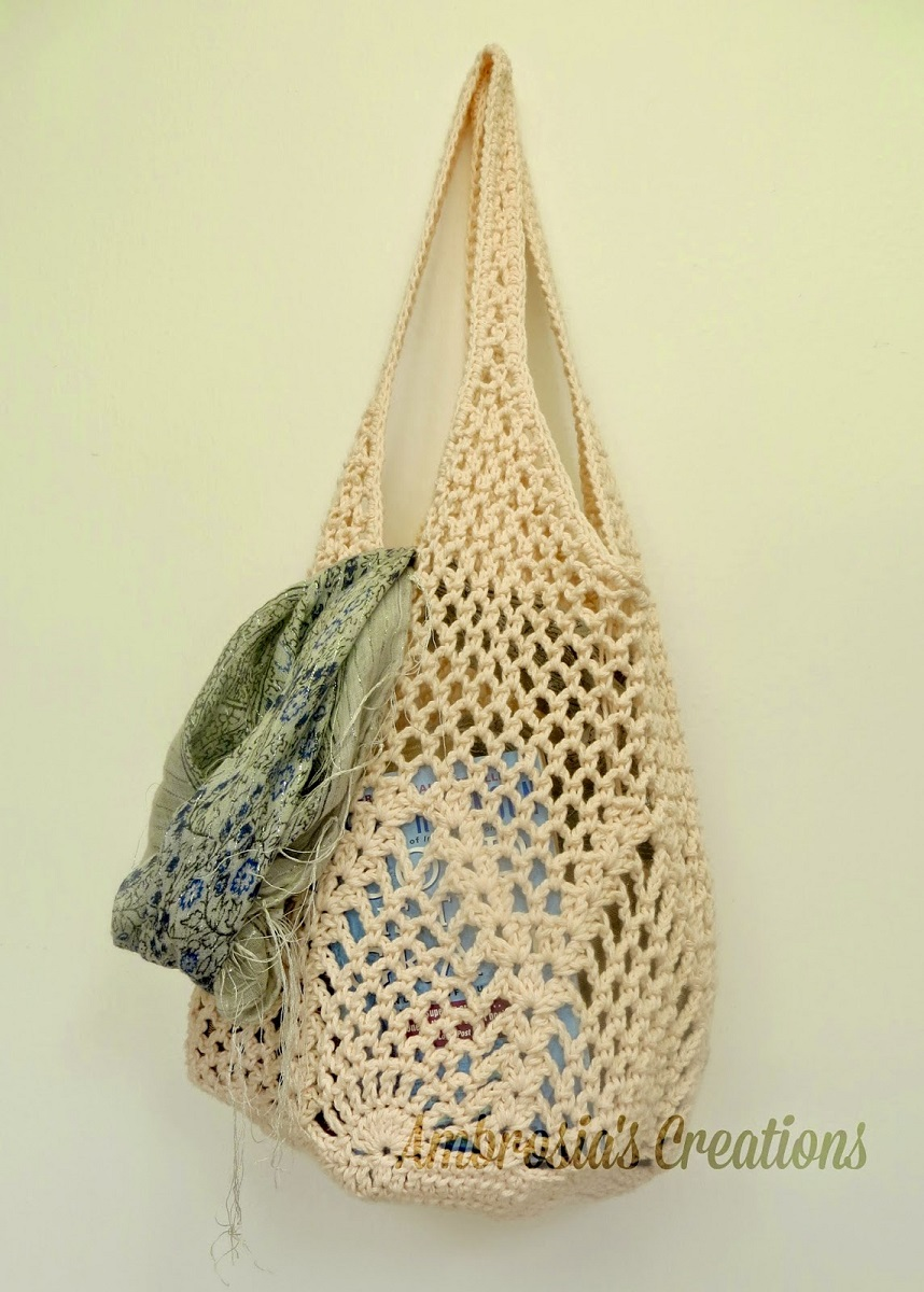 Crochet Market Tote Bag Free Pattern Ideas - Knit And Crochet Daily
