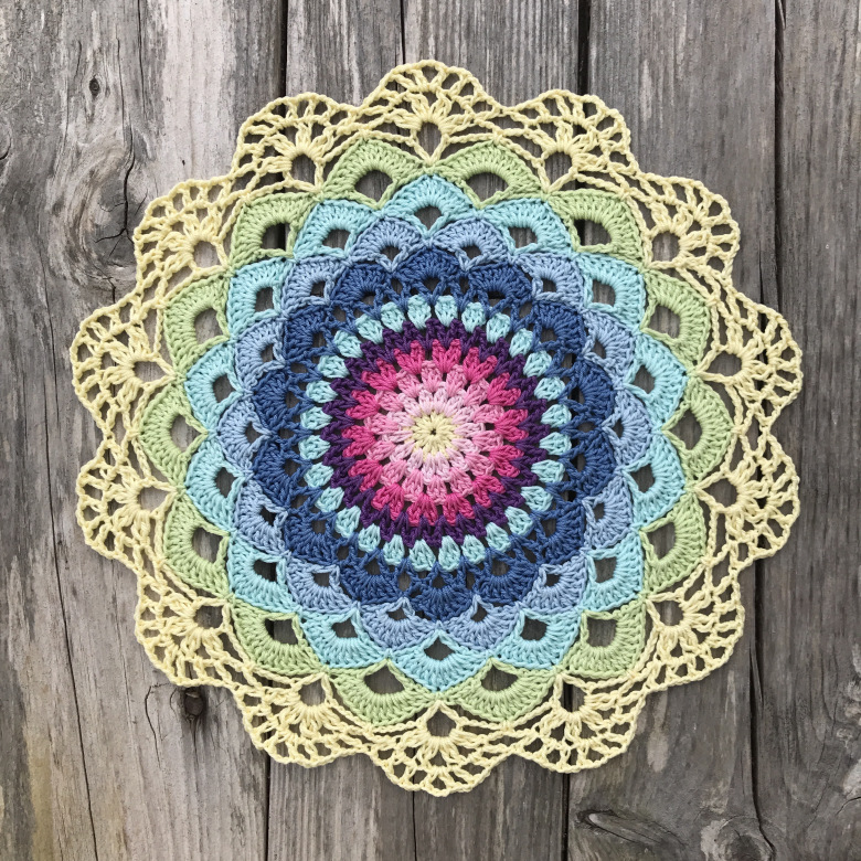 Magic Water Lily Mandala Crochet Pattern To Bring A Sense Of Peace And Harmony Into One's Space