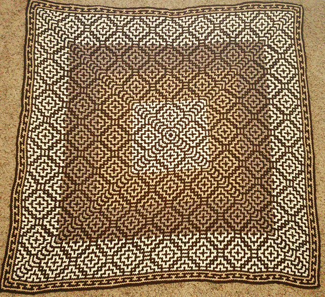 Easy Mosaic Throw Pattern With A Fabulous Design Free