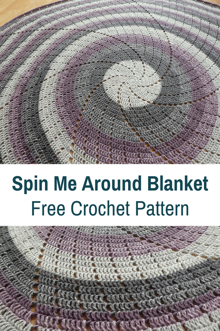 Super Quick Circular Blanket Crochet Pattern