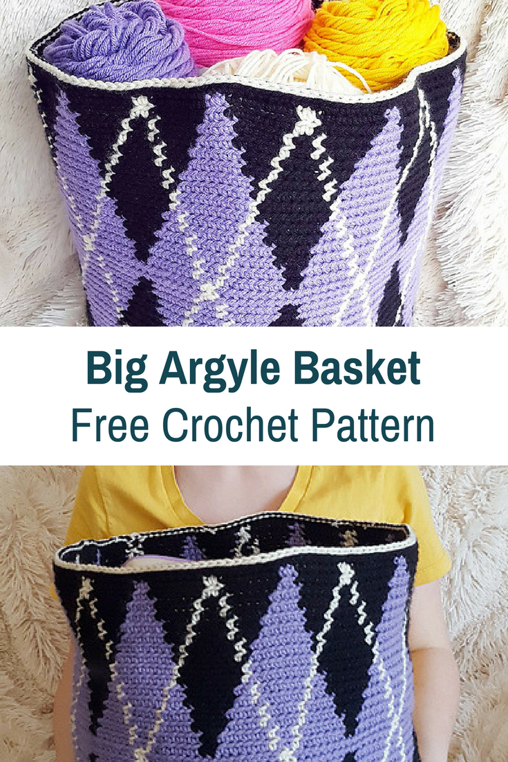 Decorative Large Crochet Basket Pattern You'll Love