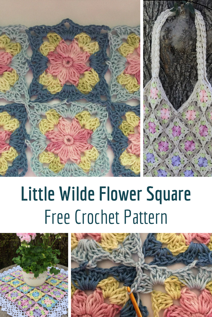 Wonderfully Pretty Little Wilde Flower Square