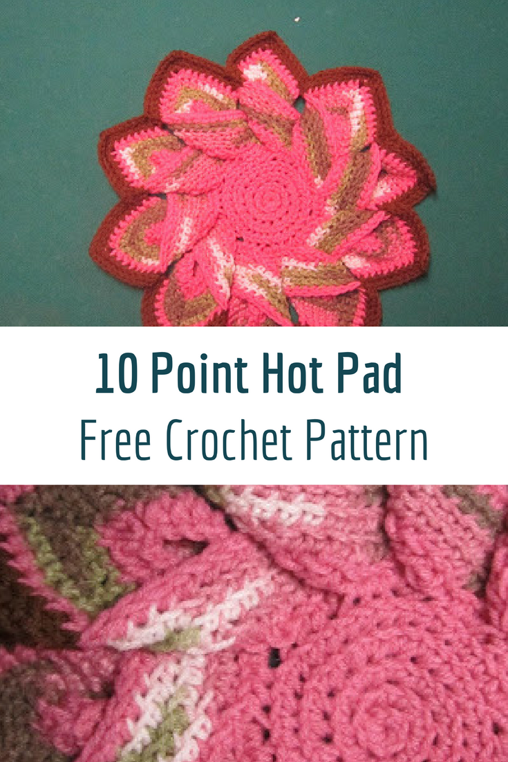 Fabulous 10 Point Hot Pad Crochet Free Pattern