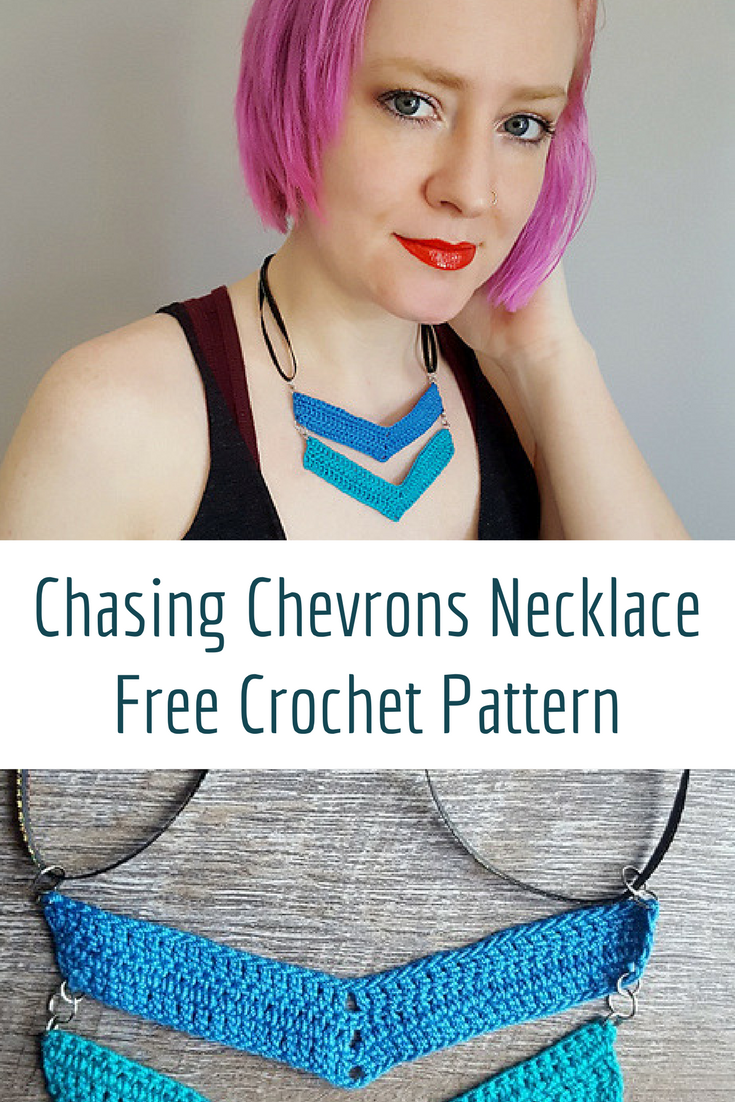 Fun And Simple Chasing Chevrons Necklace