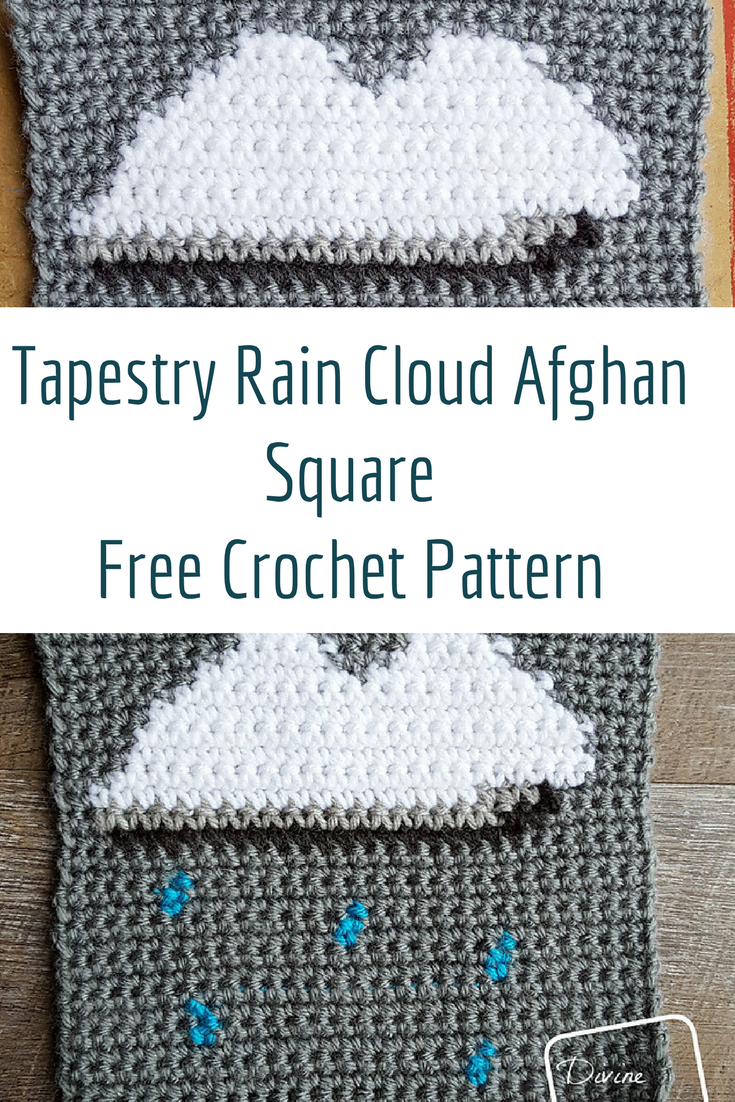 This Tapestry Crochet Rain Cloud Afghan Square Looks So Fun!