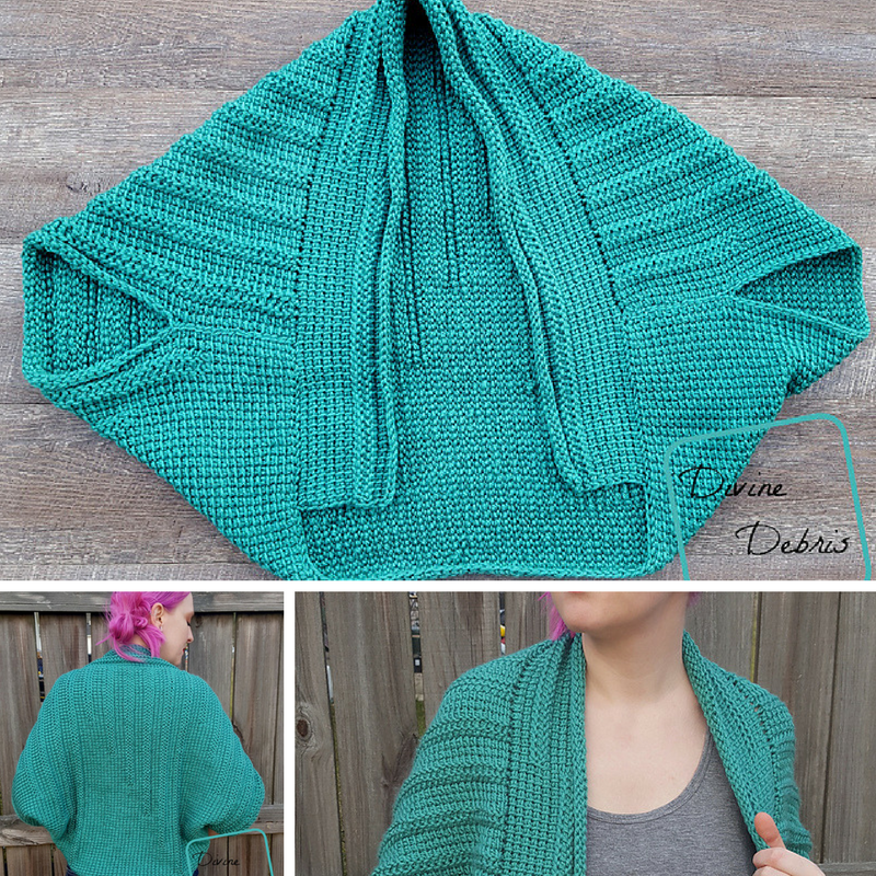 This Tunisian Crochet Shrug Pattern Is Super Fun And So Relaxing