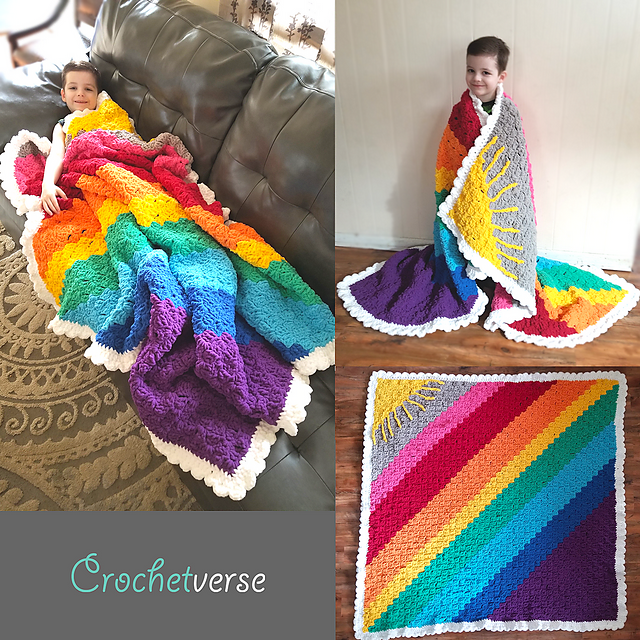 Rainbow Weighted Blanket Filled With Sunshine