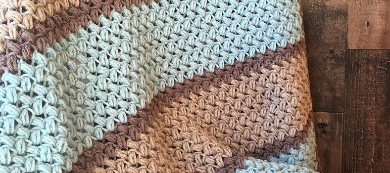 Easy Bean Stitch Crochet Blanket Free Pattern Knit And Crochet Daily